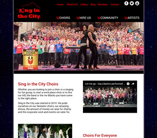 sing in the city website